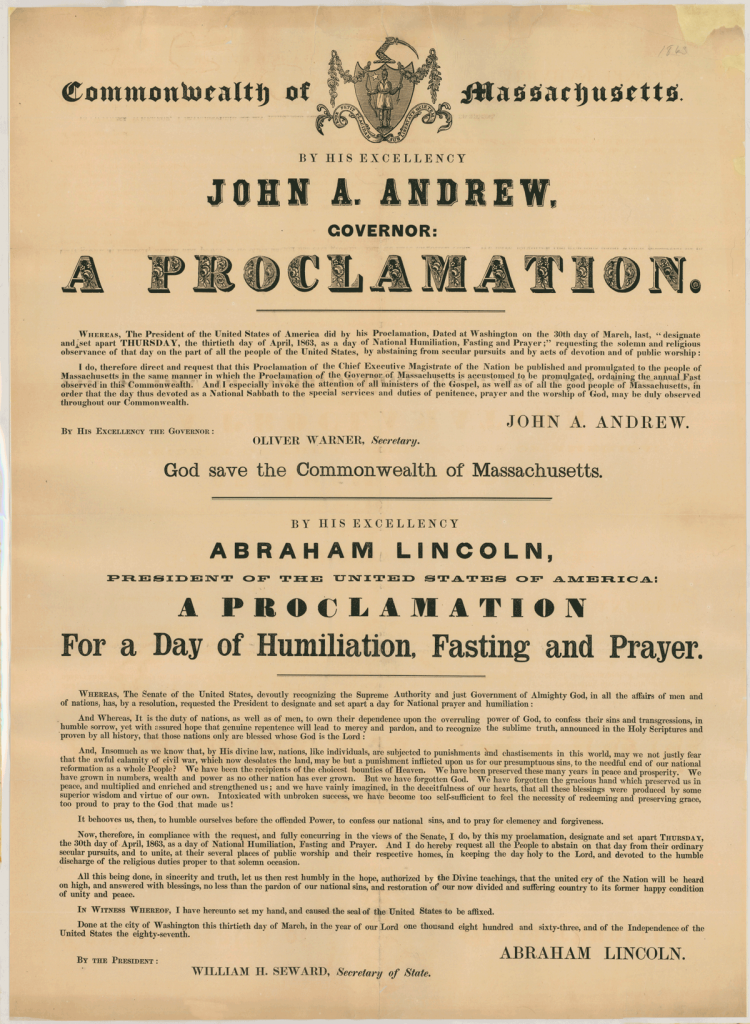 La proclamation officielle d'A. Lincoln - Source : http://littleguyintheeye.com