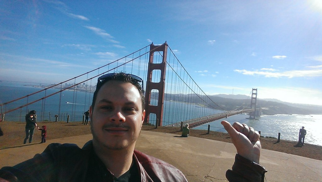 Golden Gate Bridge - Kevin on the Road