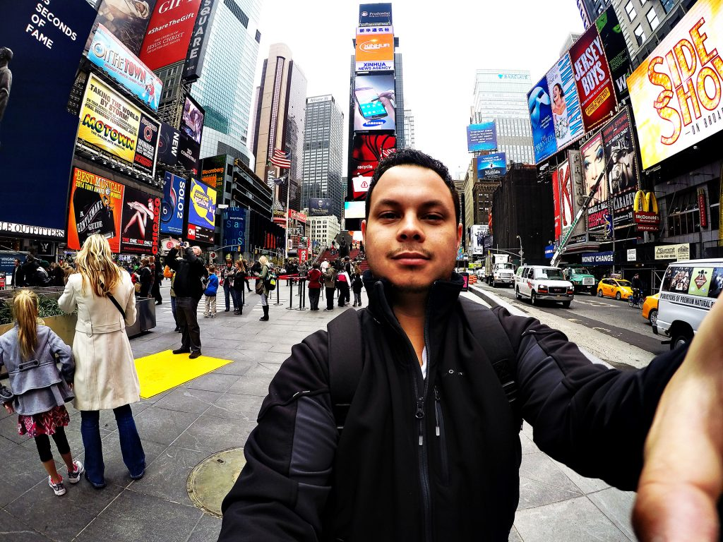 Un de mes selfies à Times Square, New York