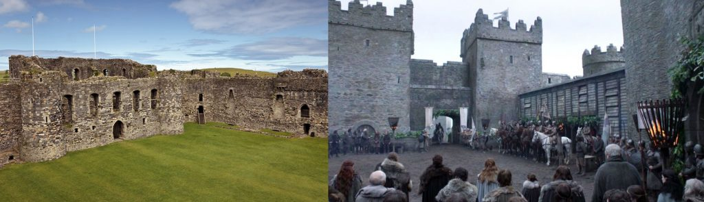 Game of Thrones Tournage Winterfell Castle Ward