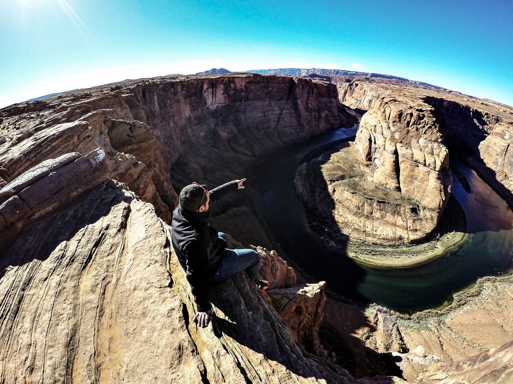 Hey les gars, je suis au bord d'un canyon de fou - Horseshoe Bend, Arizona, USA 2014