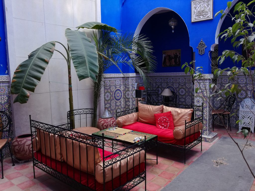 Le patio du Riad Amskal à Marrakech